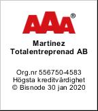 Martinez Entreprenad AAA