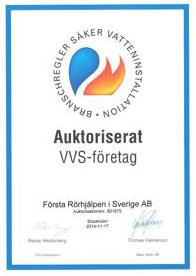 Säker Vatten certifikat