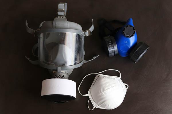 gasmask och skydd