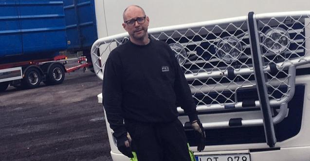 Magnus Andersson är lastväxlarchaufför