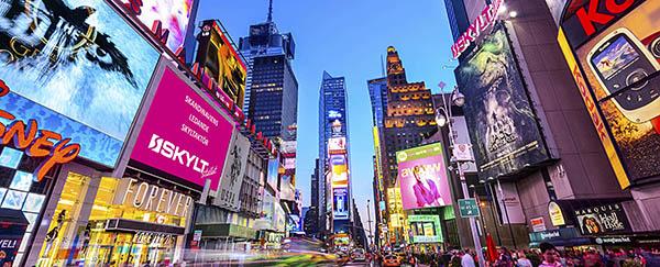 Skyltar stockholm Times Square