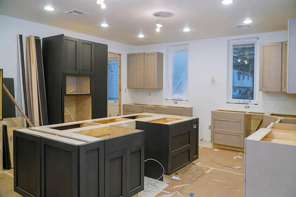 kök under uppbyggnad