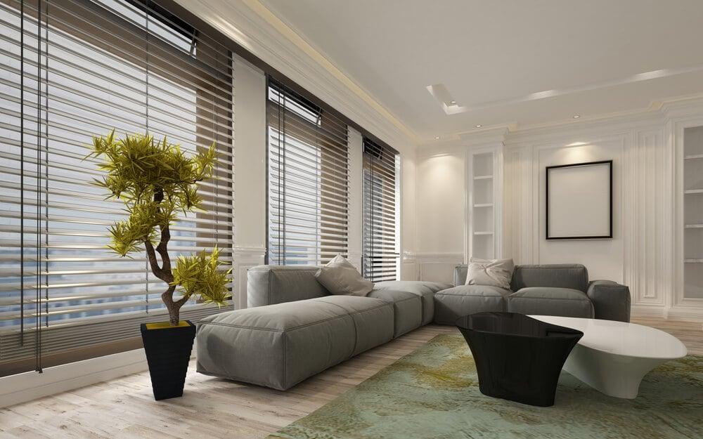 persienner i vardagsrum