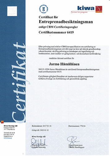 Vi är även certifierad entreprenadbesiktningsman förutom att vi erbjuder solceller i Göteborg.