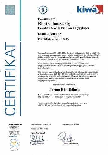 Förutom solceller i Göteborg erbjuder vi även expertkompetens som kontrollansvarig och är självklart certifierade.