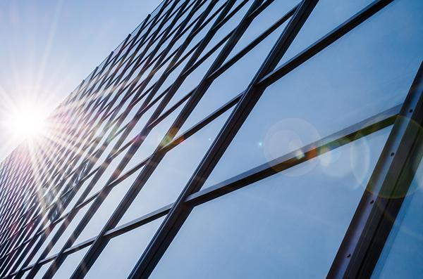 solfilm på fastighet