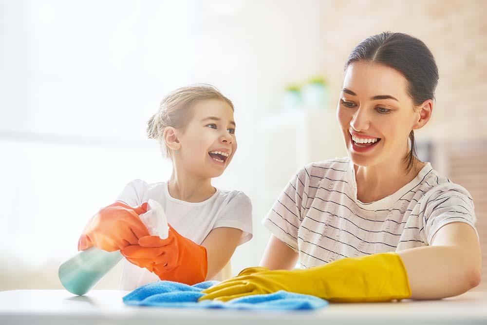 städa med barn