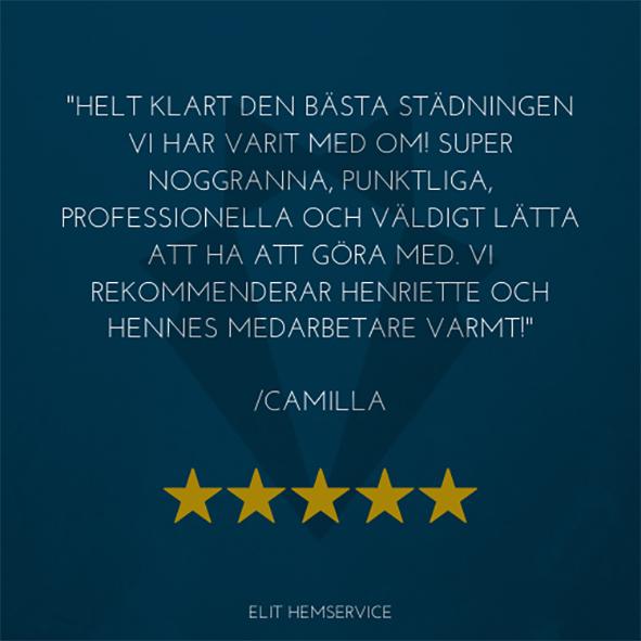 Nöjd med städfirma Karlstad