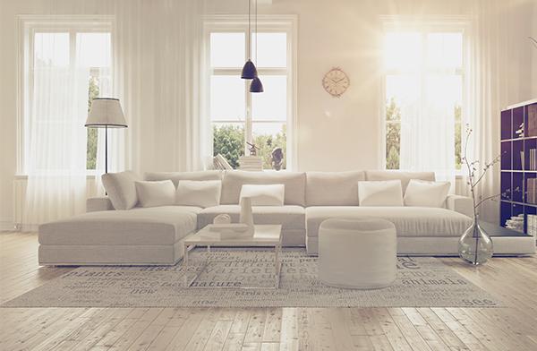 städat vardagsrum