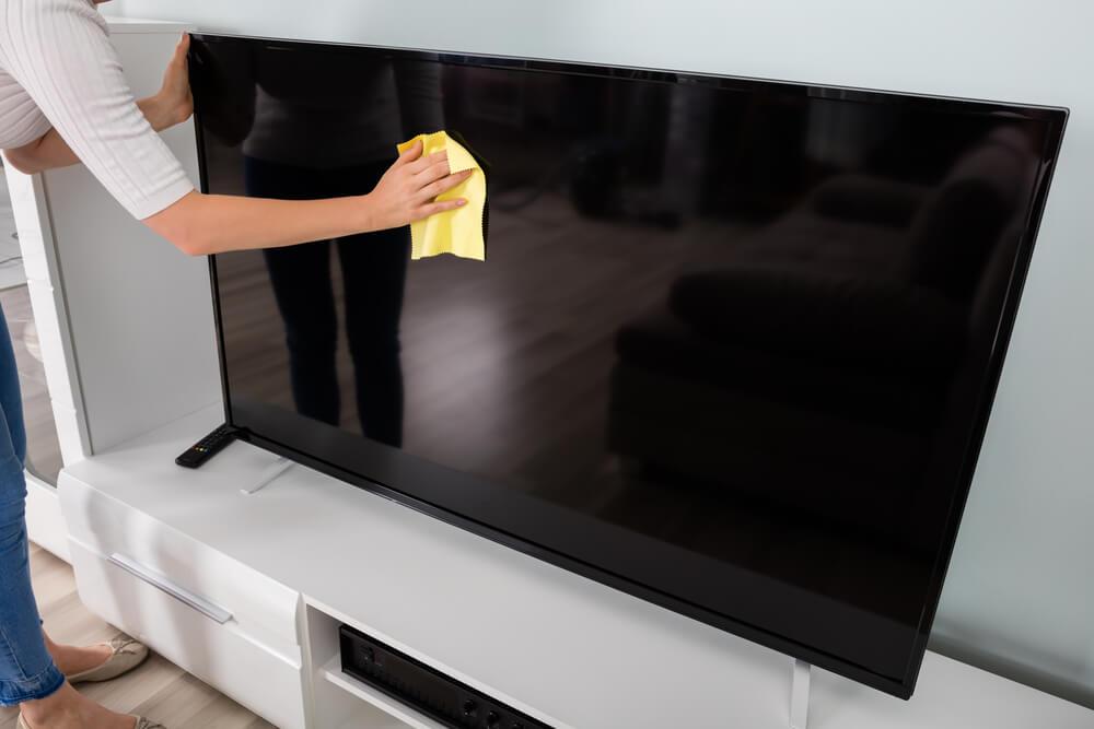 rengöra tv