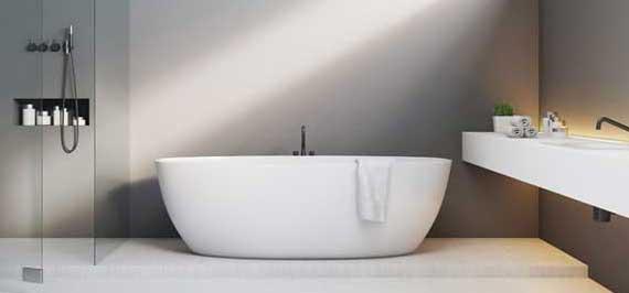 Nyrenoverat badrum efter stambyte