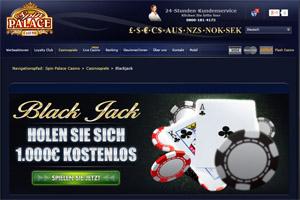 Spielen Sie Blackjack bei Spin Palace