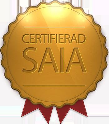 Certifikat som visar att våra automationstekniker är certifierade integratörer av saia:s system.