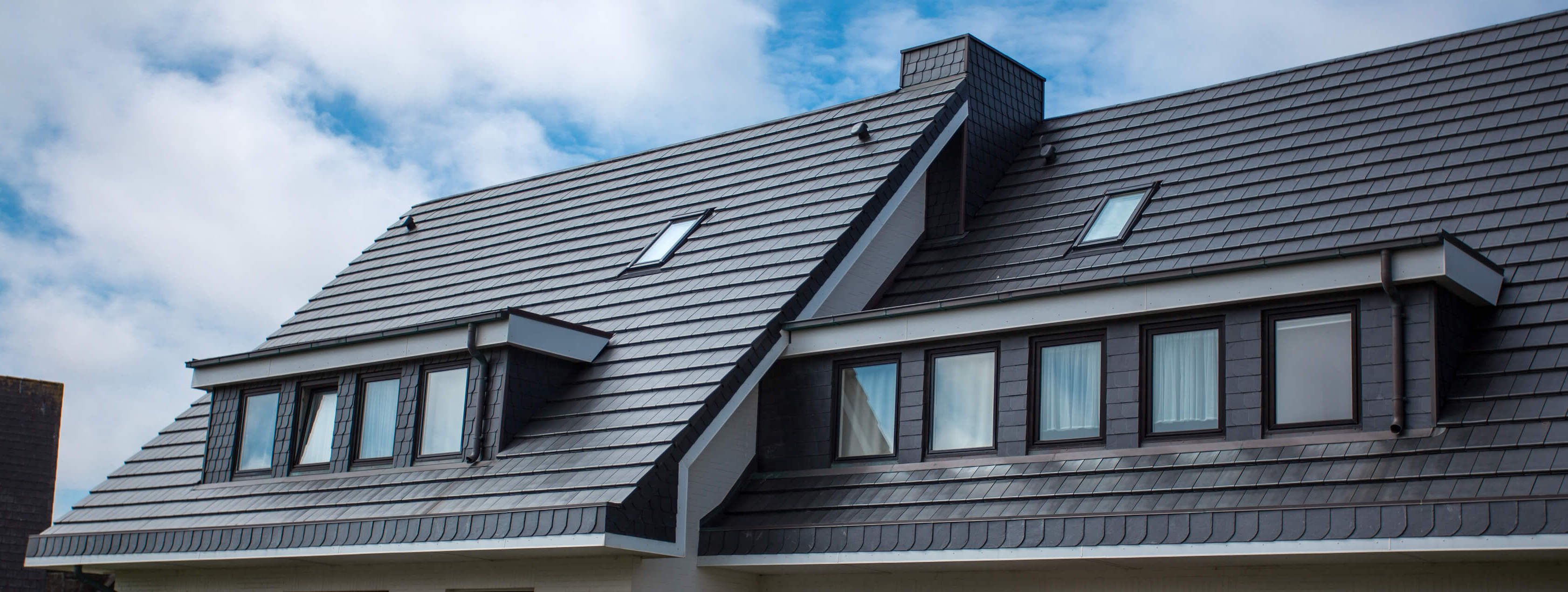 Vi lägger olika slags tak
