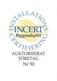 certifikat från Incert