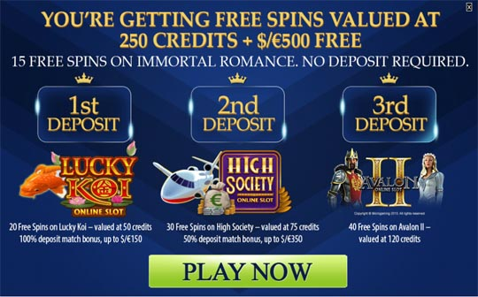 Euro Palace Free Spins Promotion