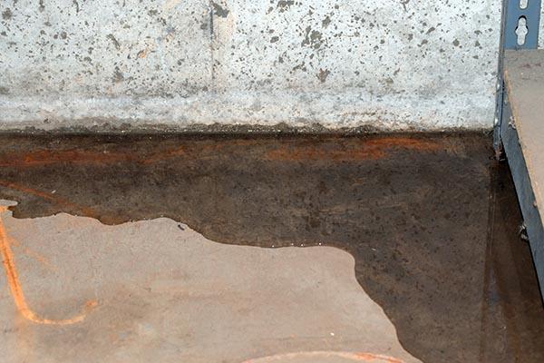 vattenläckage i källare