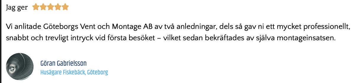 För oss är det viktigt att ha nöjda kunder som vi hjälper med ventilation i Göteborg.