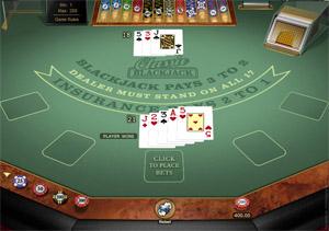 Microgaming Classic Blackjack game
