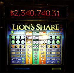 Las Vegas Lion's Share Jackpot Slot