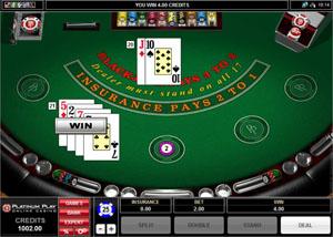 Play blackjack at Luxury Casino