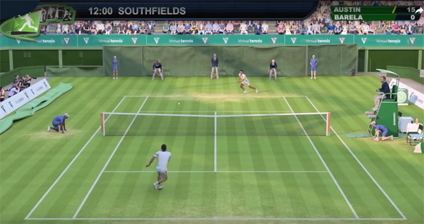 Playtech's virtual tennis game
