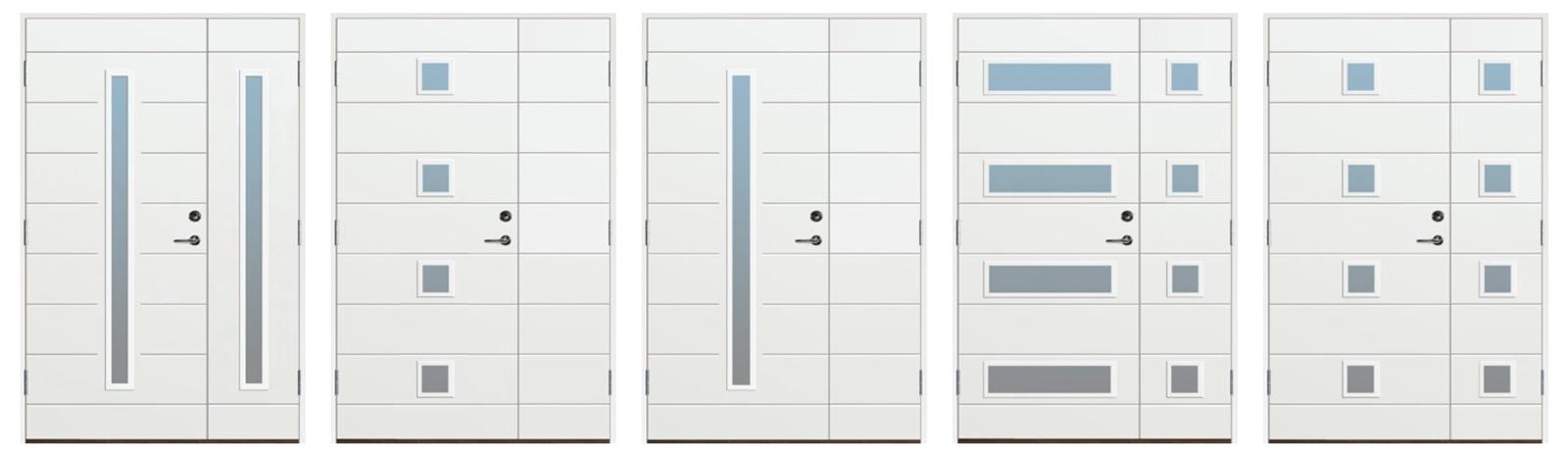 I vårt ordinarie utbud av ytterdörrar i Stockholm tillhandahåller vi även pardörrar eller närmare bestämt: parytterdörrar, som här!